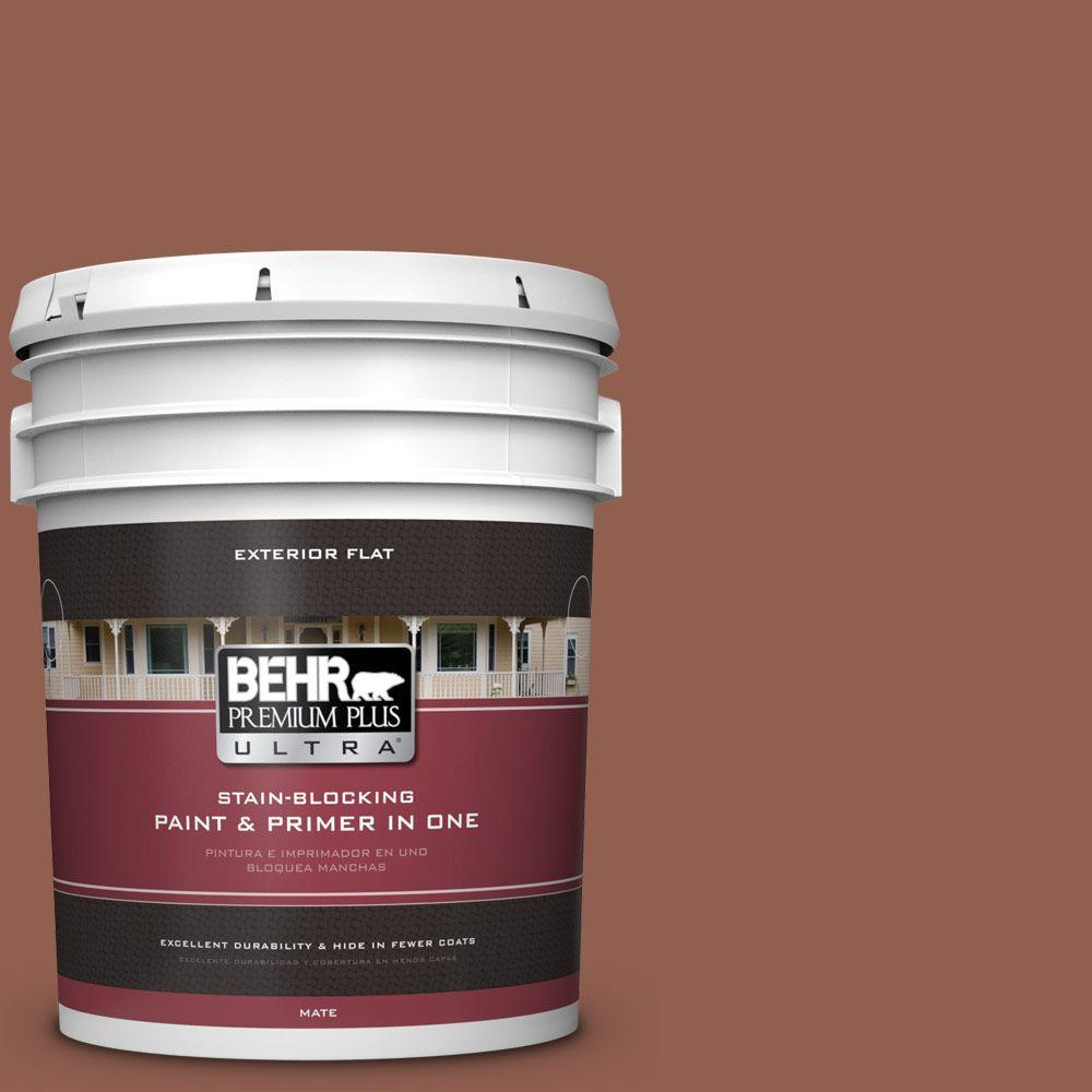 5-gal. #210F-7 Brown Thrush Flat Exterior Paint