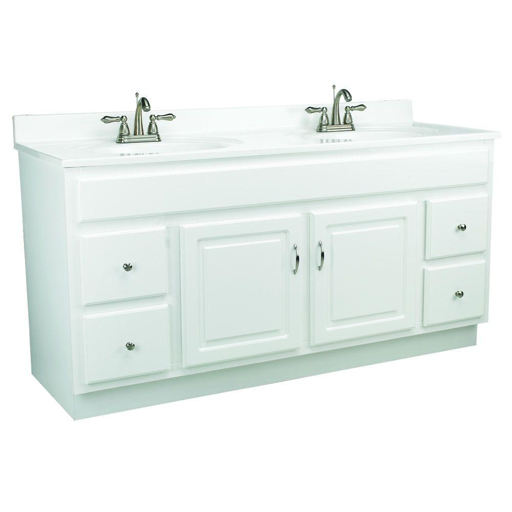 Design House Concord 60 in. W x 21 in. D Unassembled Vanity ...