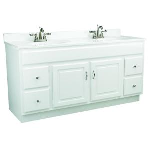 Concord 60 In. W X 21 In. D Unassembled Vanity Cabinet Only In White