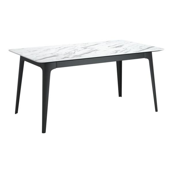 Caden Stone and Black Dining Table
