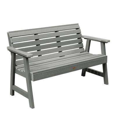 Weatherly 48 in. 2-Person Coastal Teak Recycled Plastic Outdoor Garden Bench