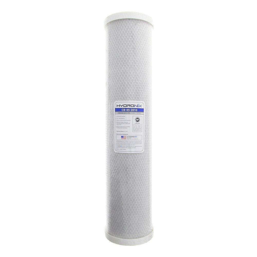 Hydronix CB-45-2010 NSF Carbon Block Filter 4.5 OD X 20 Length 10 Micron