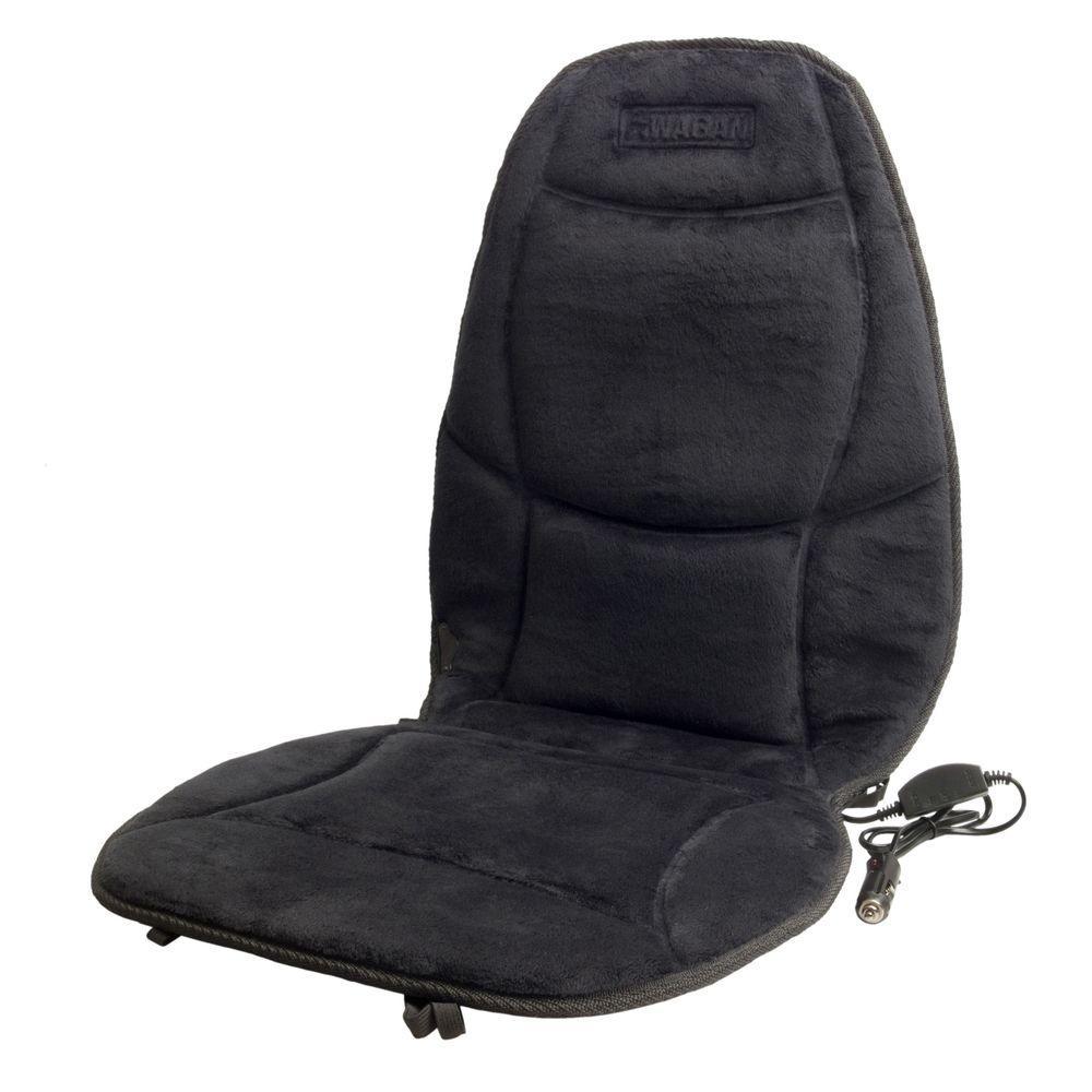 Soft Velour 12-Volt Heated Seat Cushion