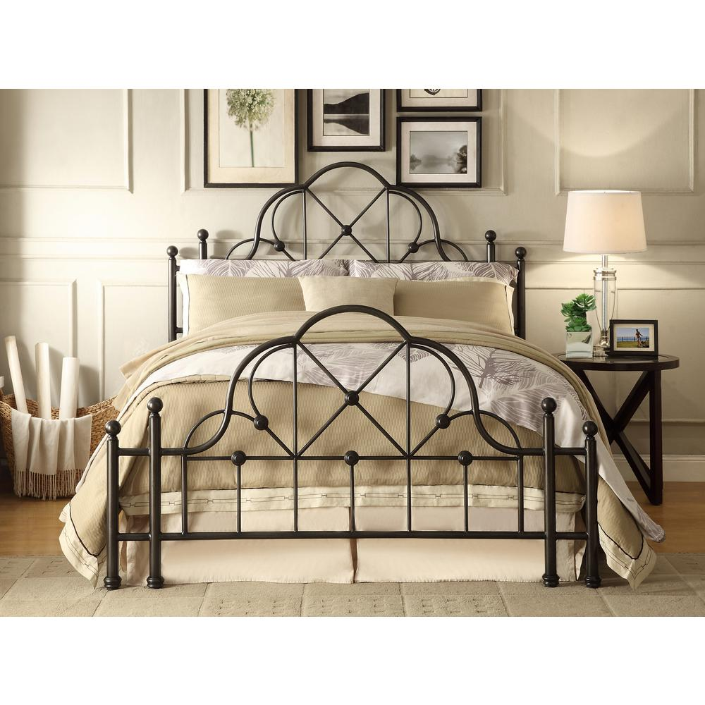 Merveilleux Foremost Emma Black Queen Bed Frame