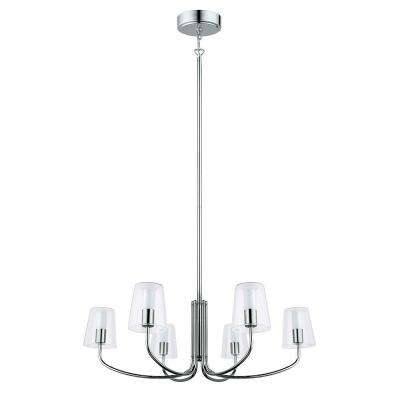 Noventa 60-Watt Chrome Integrated LED Chandelier