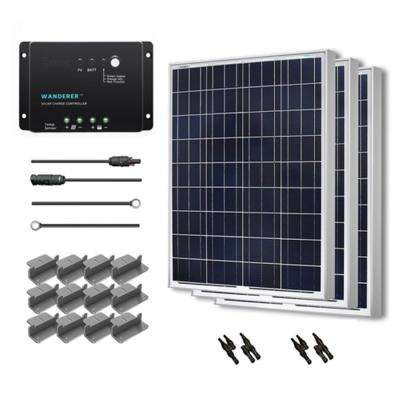 300-Watt 12-Volt Polycrystalline Solar Starter Kit for Off-Grid Solar System