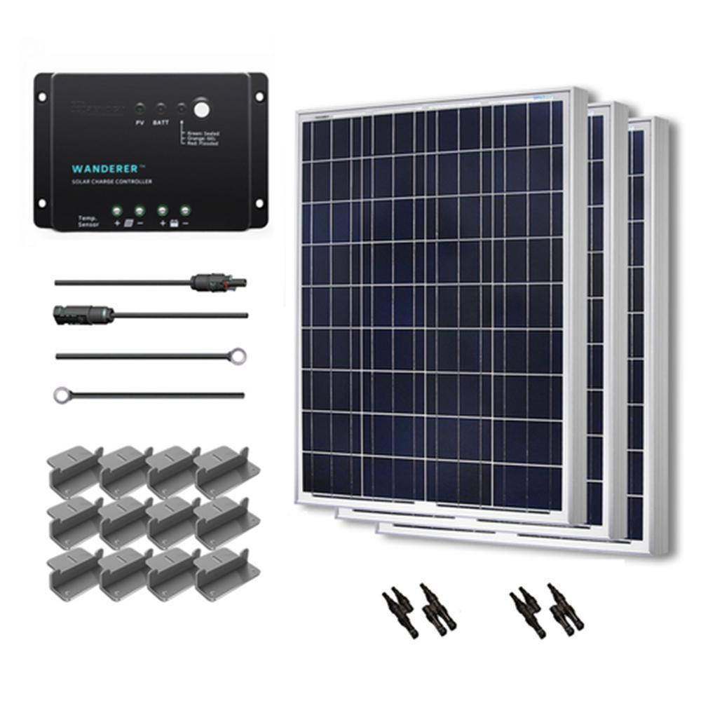 300-Watt 12-Volt Polycrystalline Solar Starter Kit for Off-Grid Solar System