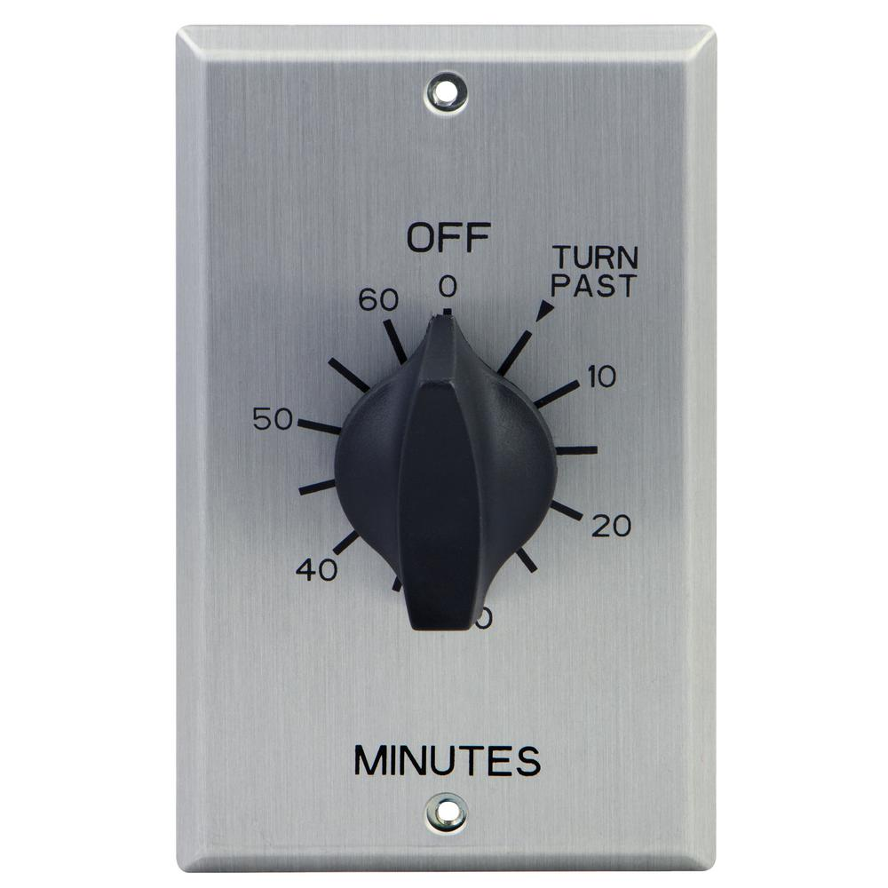 60-Minute In-Wall Spring Wound Loaded Countdown Timer Mechanical Switch