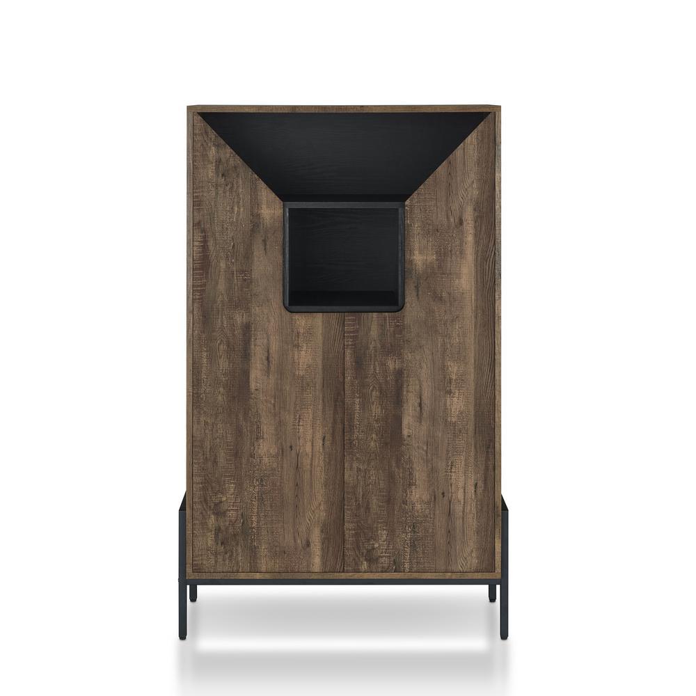 Howerton Reclaimed Oak Shoe Cabinet with Double Doors