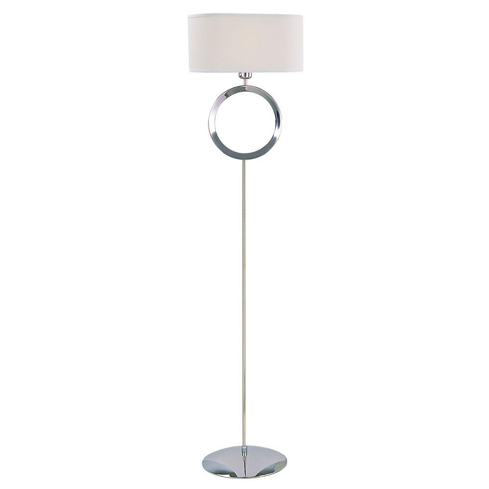 Tulen Lawrence 60.5 in. Polished Stainless Steel Incandescent Floor Lamp