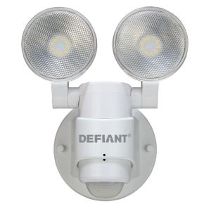 Defiant 180 degree white led motion outdoor security light dfi 5982 180 degree 2 head white outdoor flood light aloadofball Image collections
