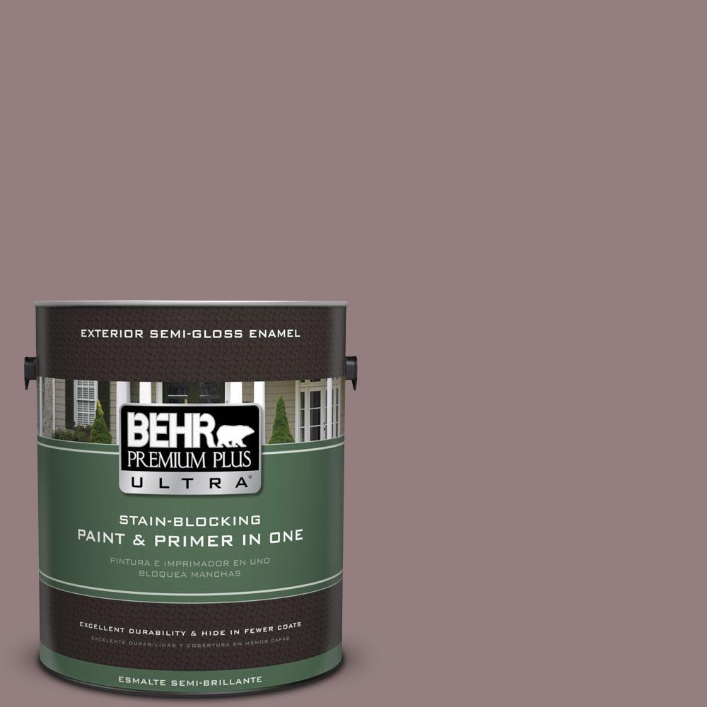 BEHR Premium Plus Ultra 1-gal. #730B-5 Warm Embrace Semi-Gloss Enamel Exterior Paint