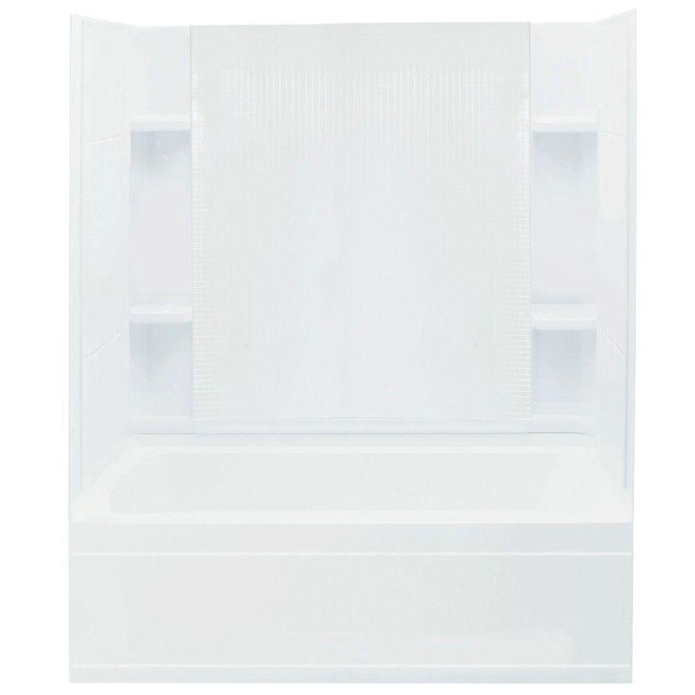 STERLING Accord 36 in. x 60 in. x 76 in. Standard Fit Shower Kit in White