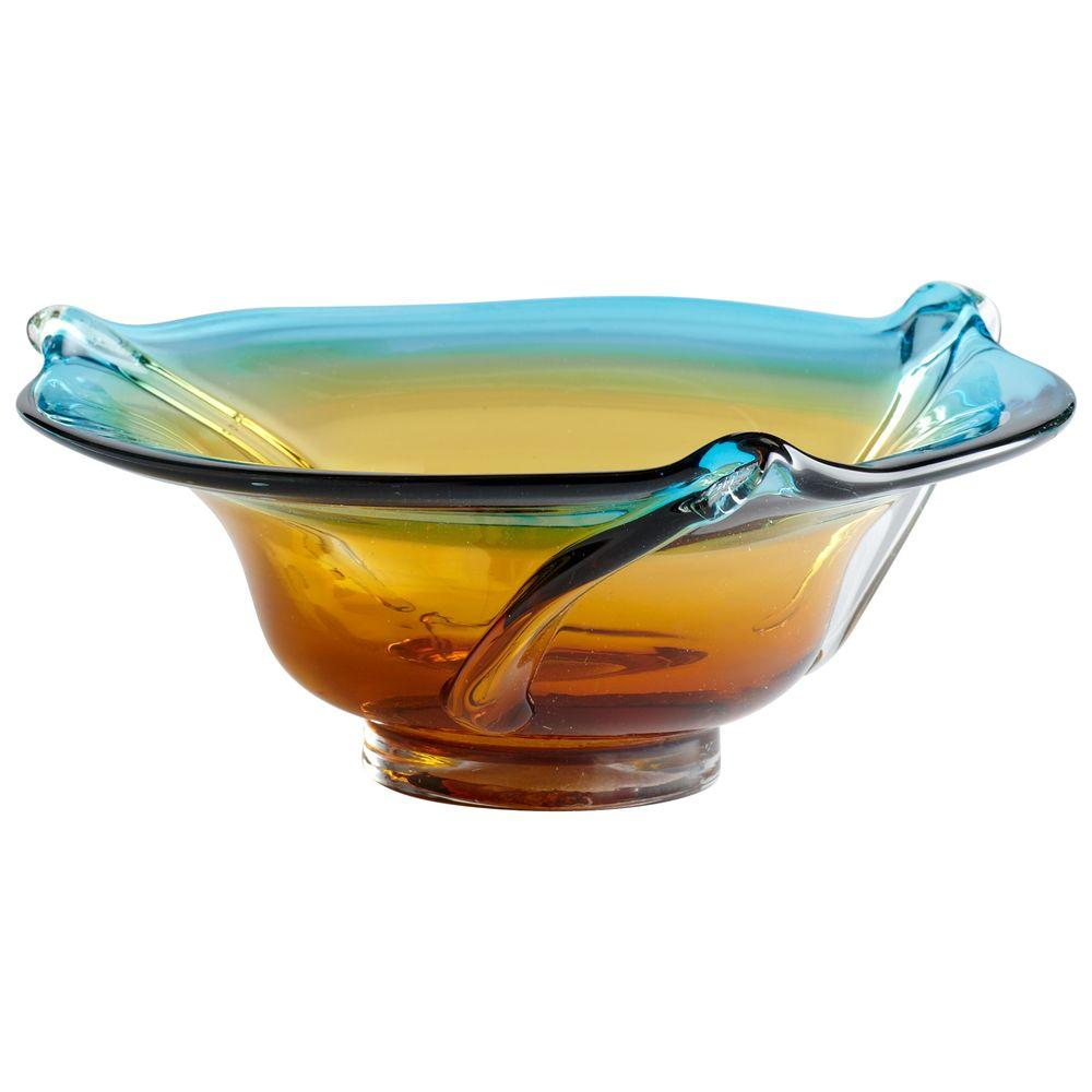 Filament Design Prospect 4.5 in. x 10 in. Cyan Blue And Orange Bowl