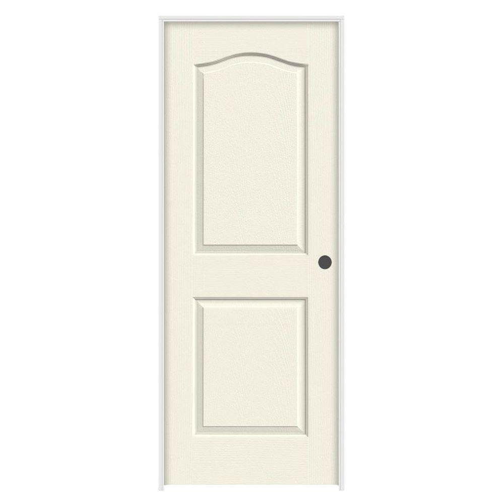 JELD-WEN 36 in. x 80 in. Princeton Vanilla Painted Left-Hand Smooth Molded Composite MDF Single Prehung Interior Door