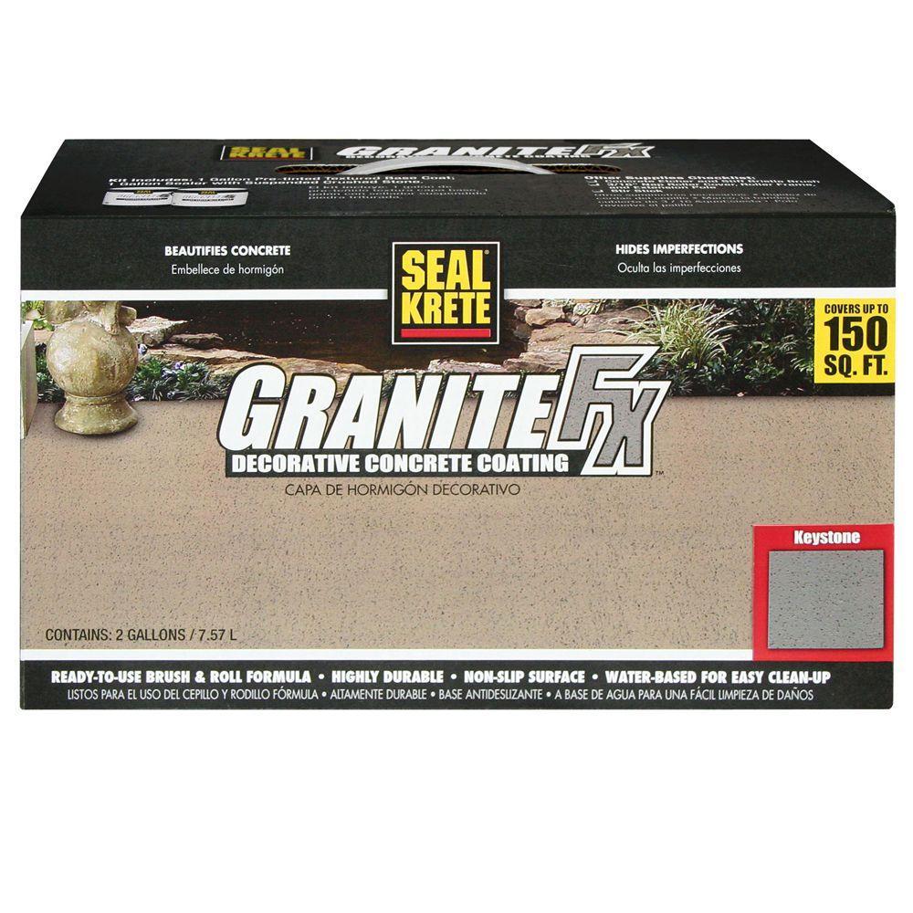 Seal-Krete 282 Granite FX 2 gal. Keystone Decorative Concrete Coating