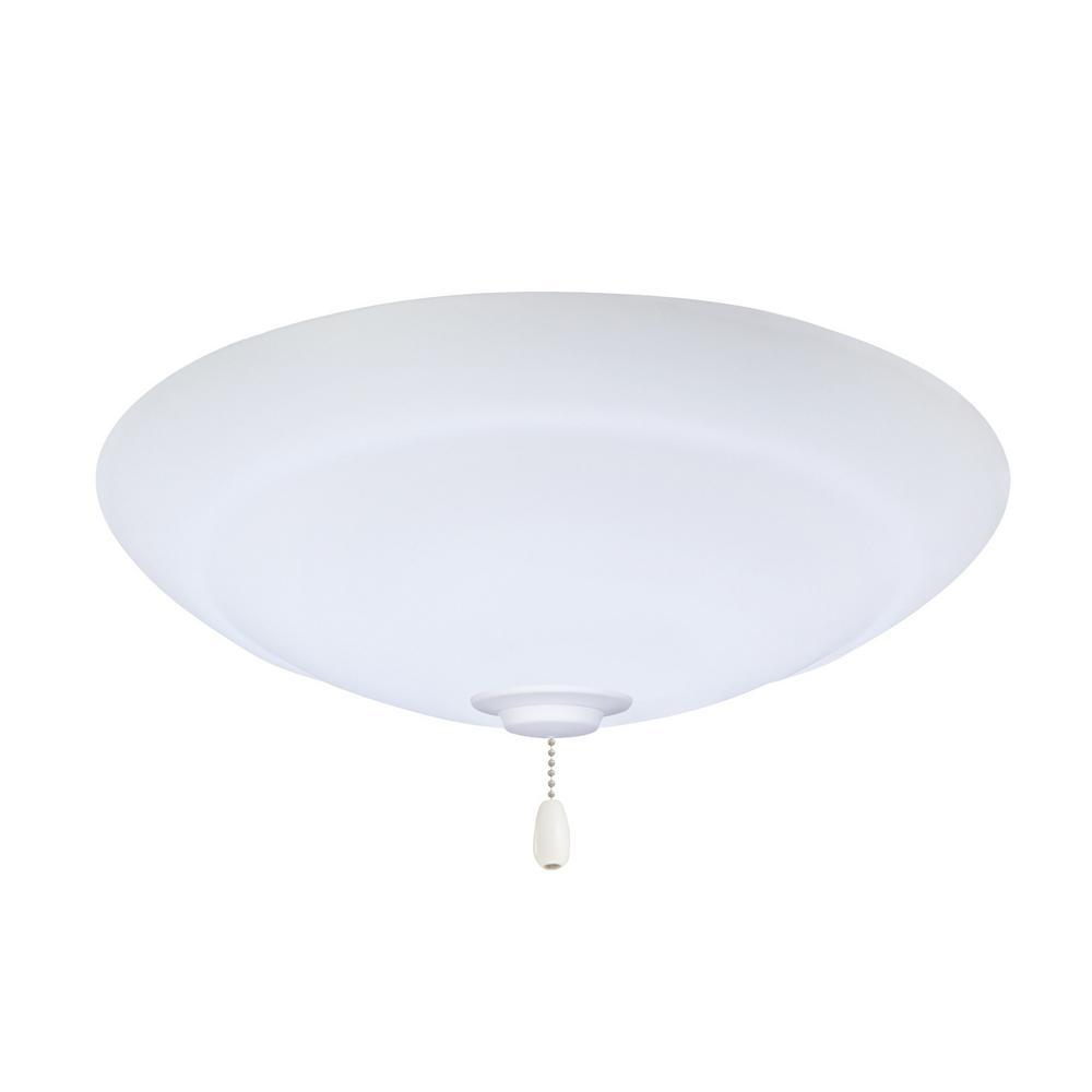 Riley LED Array Satin White Ceiling Fan Light Kit