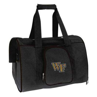 NCAA Wake Forest Demon Deacons Pet Carrier Premium 16 in. Bag in Black