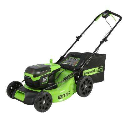PRO 21 in. 60-Volt Lithium-ion Cordless Battery Walk Behind Push Mower with 5.0 Ah Battery and Charger Included