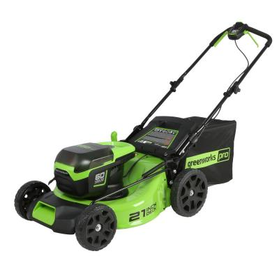 PRO 21 in. 60-Volt Lithium-Ion Cordless Battery Walk Behind Push Mower (Tool-Only)