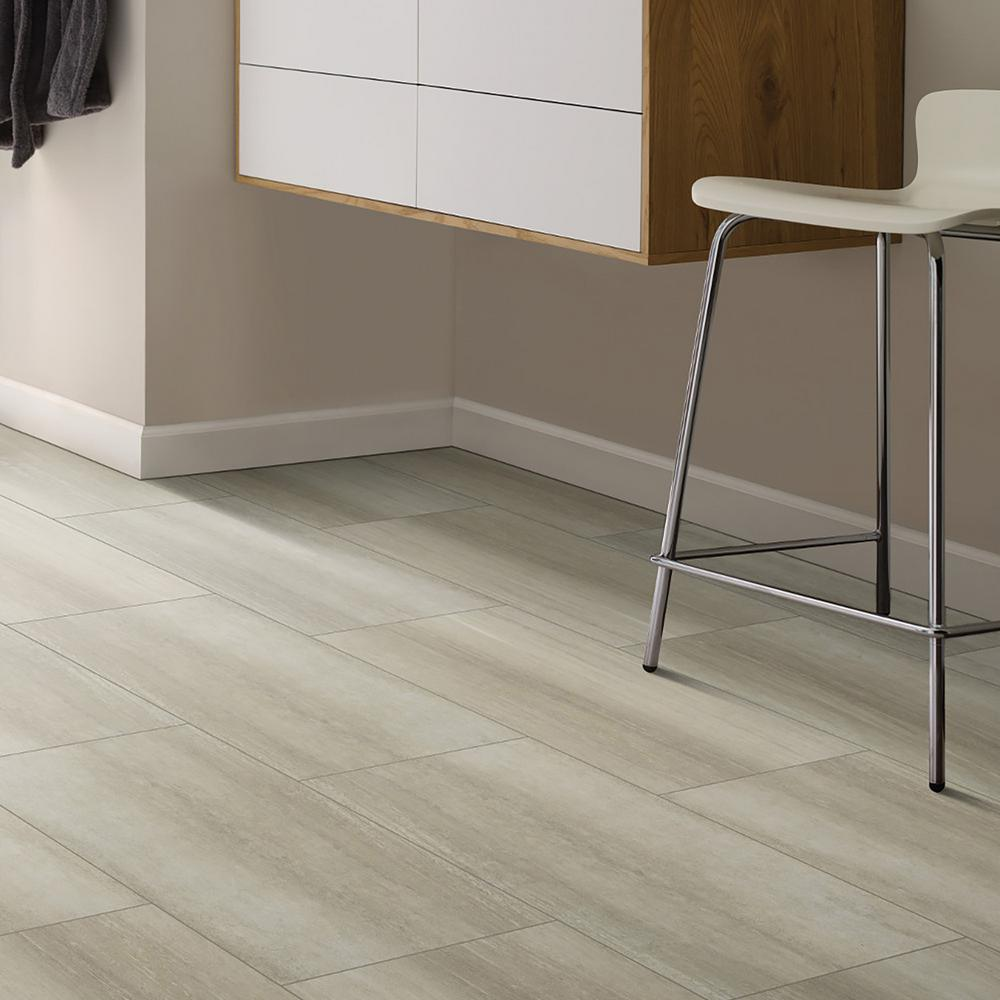 Shaw Vista Sand Dollar 12 in  x 24 in  Resilient Vinyl Tile (15 83 sq  ft )
