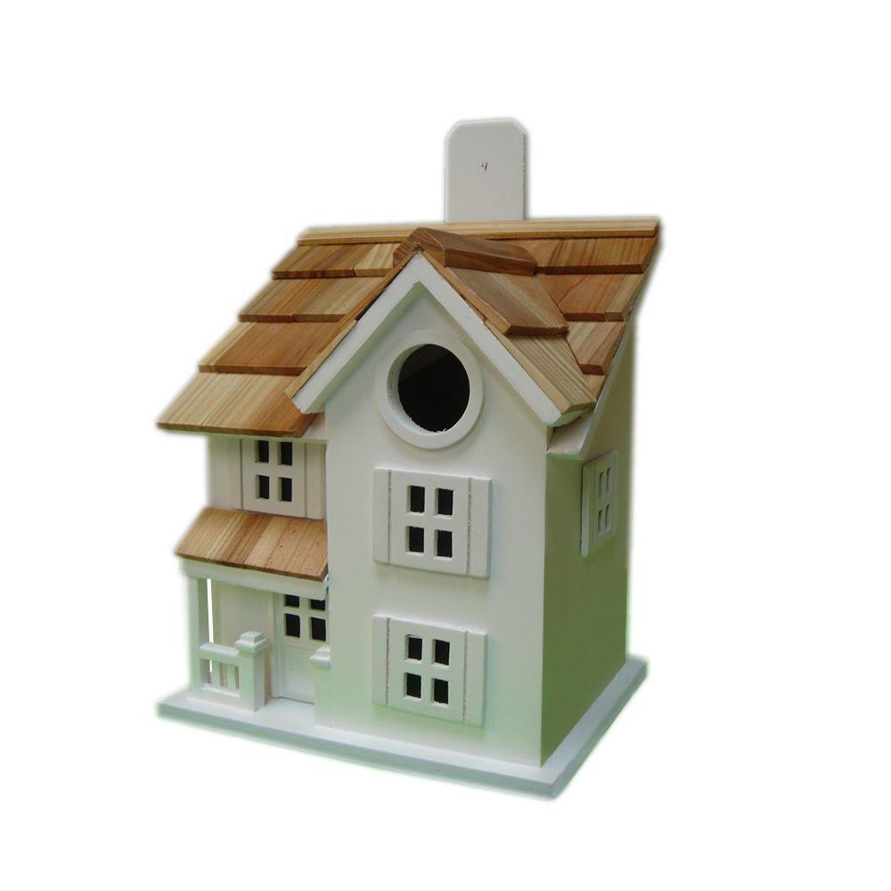 Home Bazaar Townhouse Birdhouse (White)
