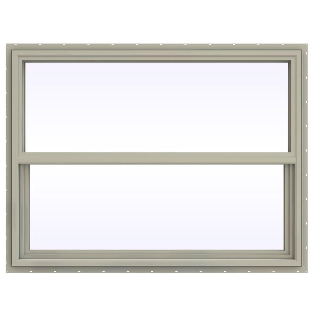 47.5 in. x 35.5 in. V-4500 Series Single Hung Vinyl Window