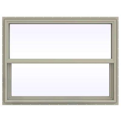 47.5 in. x 35.5 in. V-4500 Series Single Hung Vinyl Window - Tan