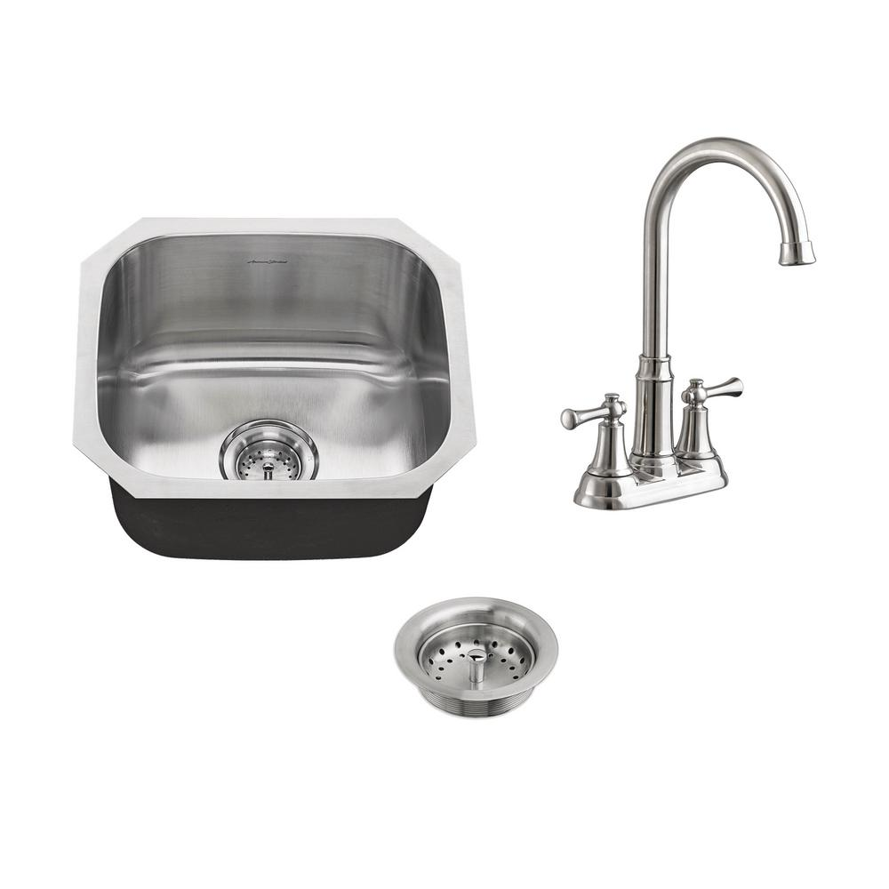 american standard portsmouth all in one undermount stainless steel 18 in  single bowl american standard portsmouth all in one undermount stainless steel      rh   homedepot com