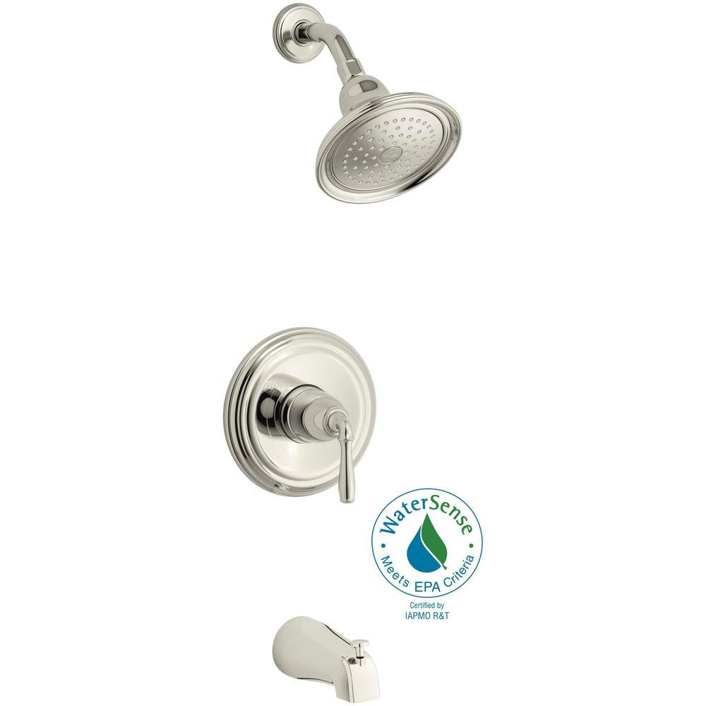 Devonshire Rite-Temp Single-Handle 1-Spray Tub and Shower Faucet in Polished