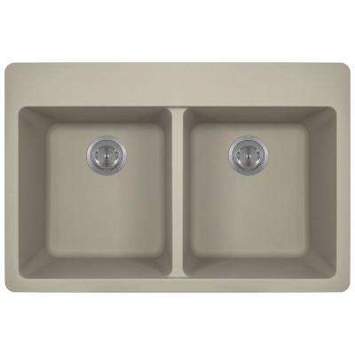 4hole equal double bowl kitchen sink