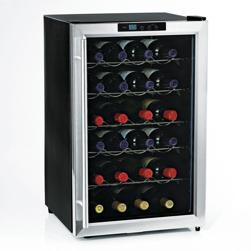 wine enthusiast wine cooler wine enthusiast silent 28 bottle single zone wine cooler 31189