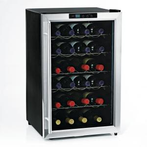 Click here to buy Wine Enthusiast Silent 28-Bottle Single Zone Wine Cooler by Wine Enthusiast.