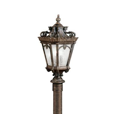 Tournai 4-Light Londonderry Outdoor Wall Mount Lantern with Clear Seeded Glass