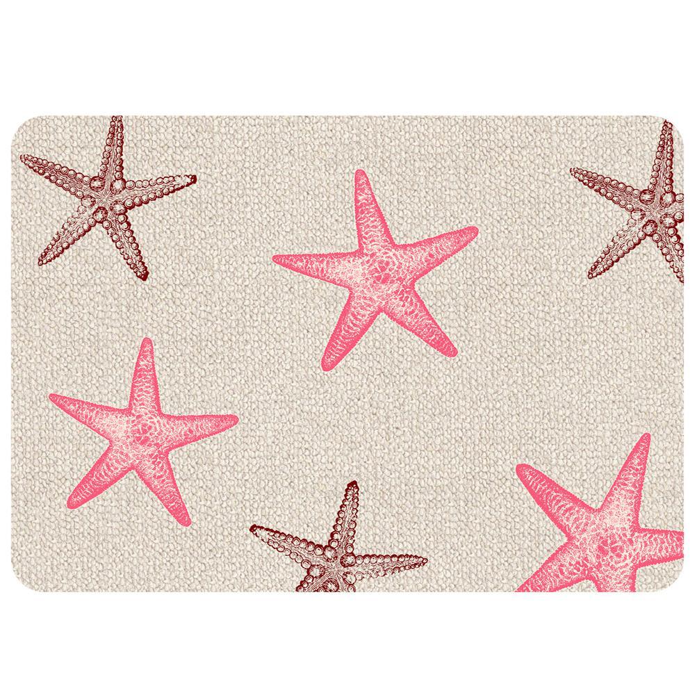 Premium Comfort Starfish Hooked 22 in. x 31 in. Door Mat