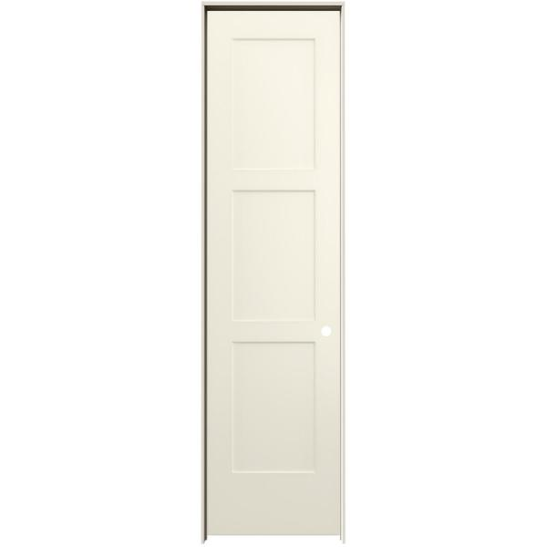 24 in. x 96 in. Birkdale French Vanilla Paint Left-Hand Smooth Solid Core Molded Composite Single Prehung Interior Door