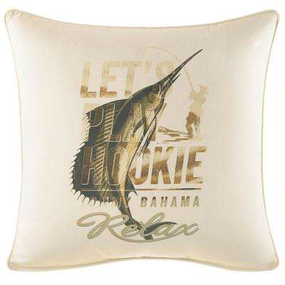 Nador Let's Play Hookie 20 in. x 20 in. Throw Pillow