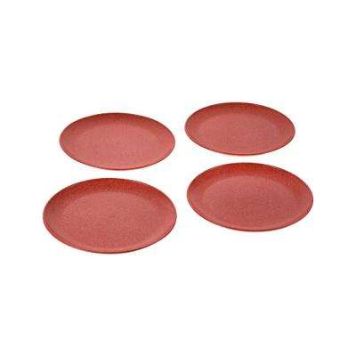 EVO Sustainable Goods 8 in. Red Eco-Friendly Wood-Plastic Composite Plate (Set of 4)