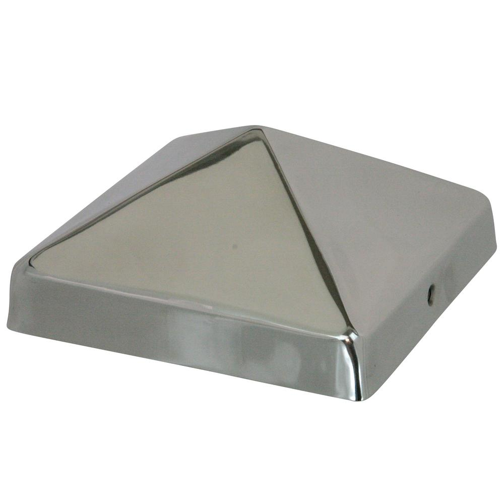 8 in. x 8 in. Stainless Steel Pyramid Slip Over Fence