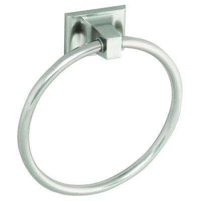 Millbridge Towel Ring in Satin Nickel