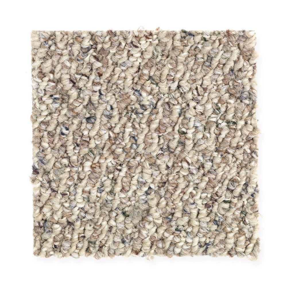 Carpet Sample - Speeding - Color Tender Beige Loop 8 in. x 8 in.