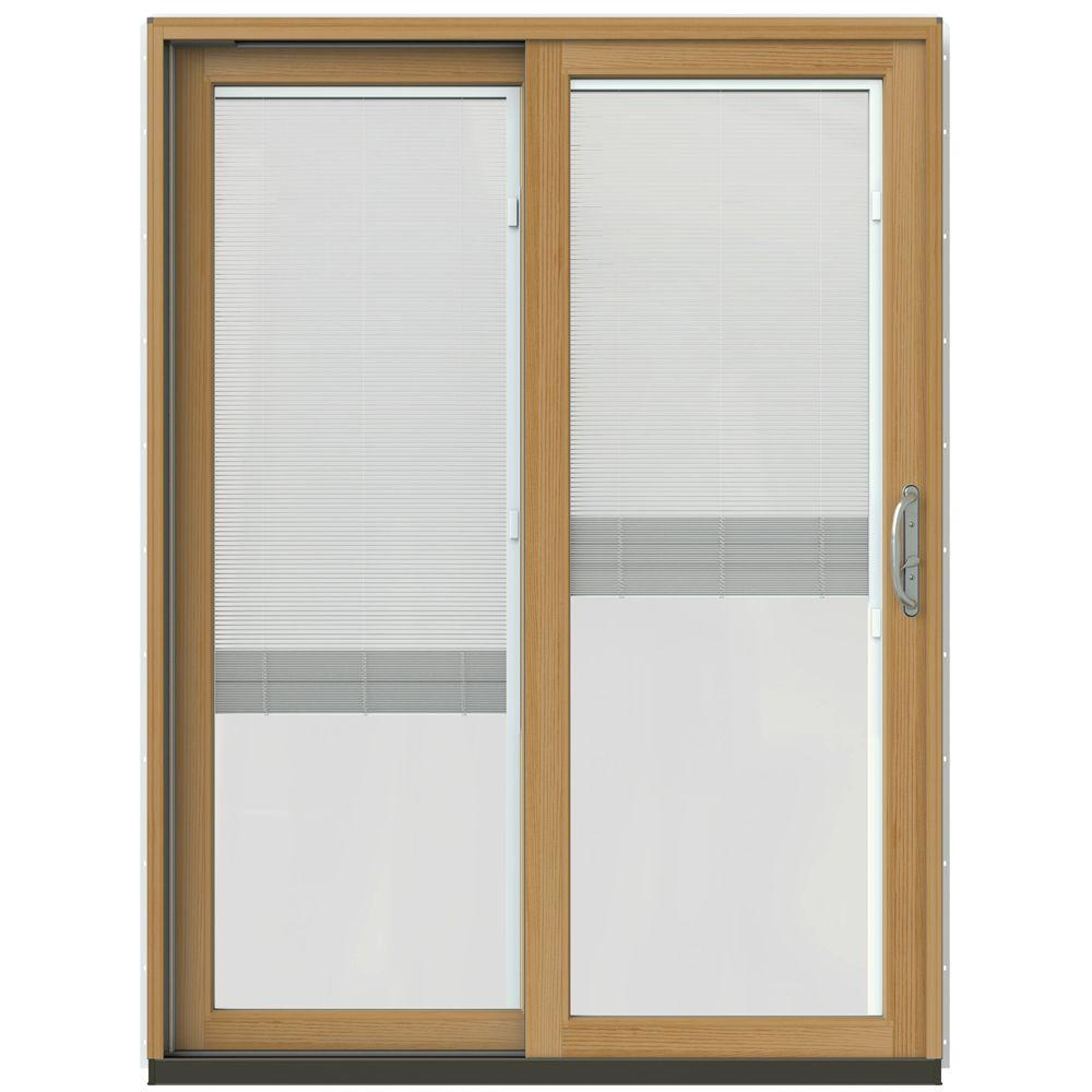 Patio Doors Product: JELD-WEN 60 In. X 80 In. W-2500 Contemporary White Clad