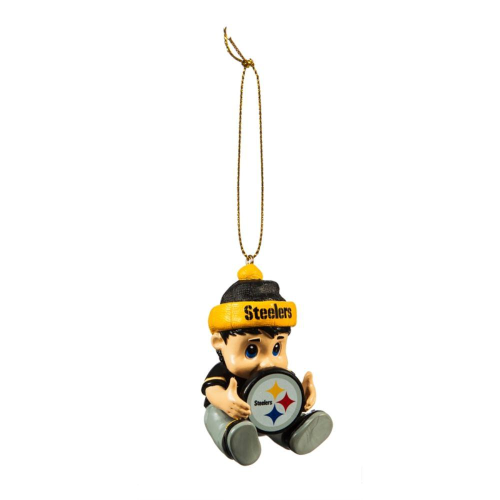 Team Sports America Pittsburgh Steelers 2 in. NFL New Lil Fan Christmas Ornament