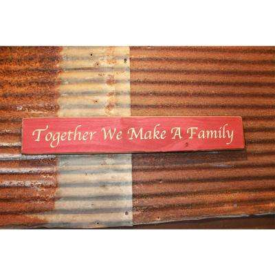 22 in. Red Pine Wood Sign