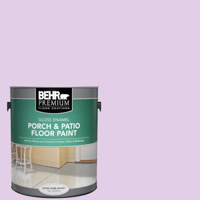 Behr Premium 1 Gal P100 2 Sweet Romance Gloss Enamel Interior Exterior Porch And Patio Floor Paint 670501 The Home Depot