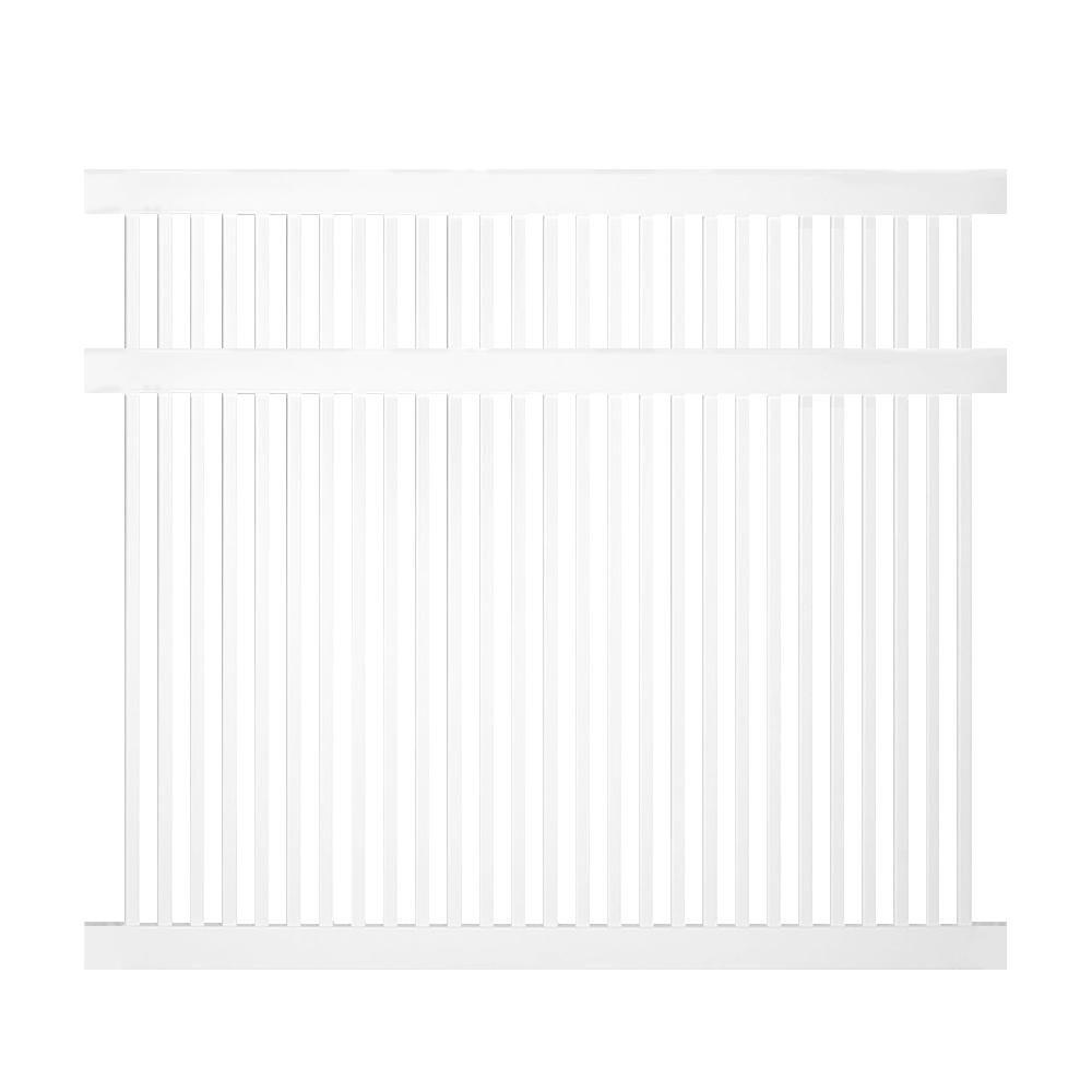 Weatherables Williamsport 5 Ft H X 6 Ft W White Vinyl
