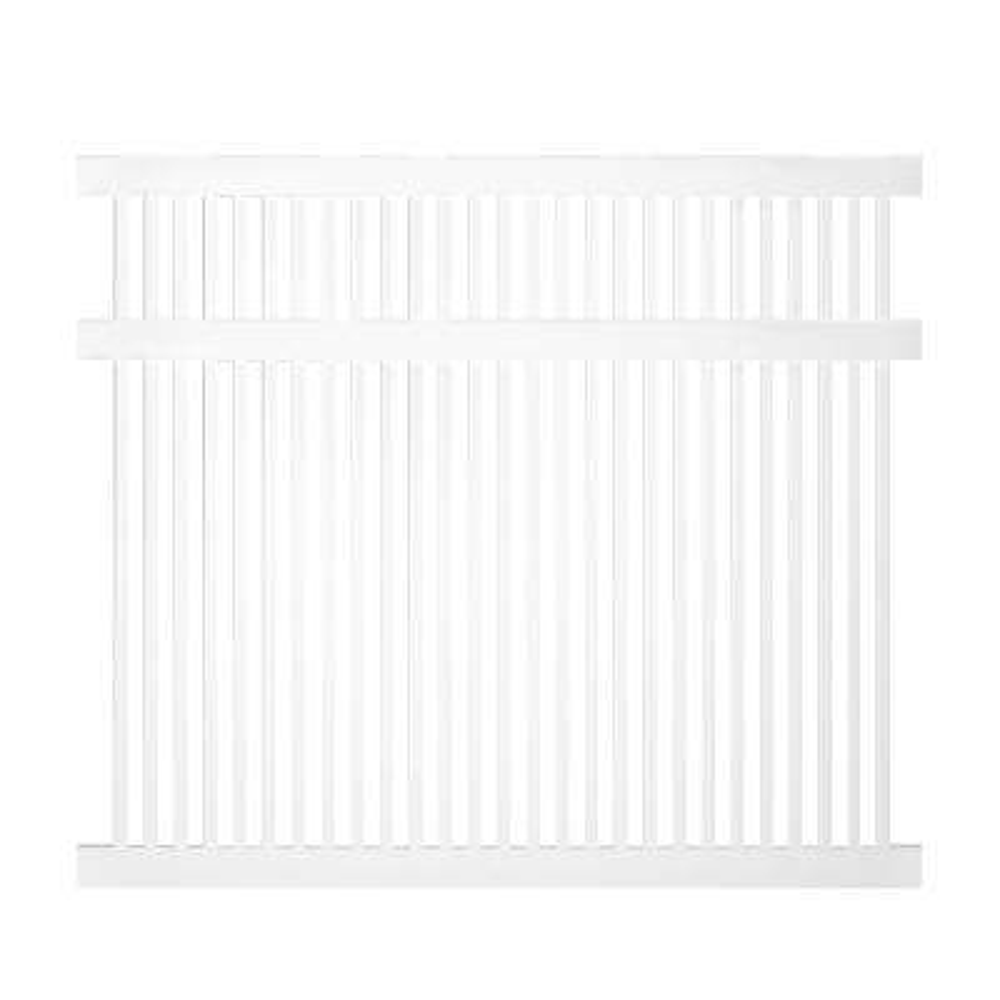 Williamsport 5 ft. H x 6 ft. W White Vinyl Pool Fence Panel