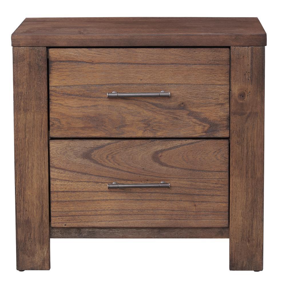 Progressive Furniture Brayden 2-Drawer Satin Mindi Nightstand B104-43