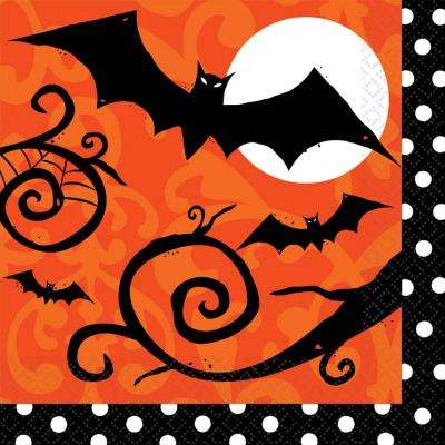 6.5 in. x 6.5 in. x Halloween Frightfully Fancy Lunch Napkin (36-Count, 3-Pack)