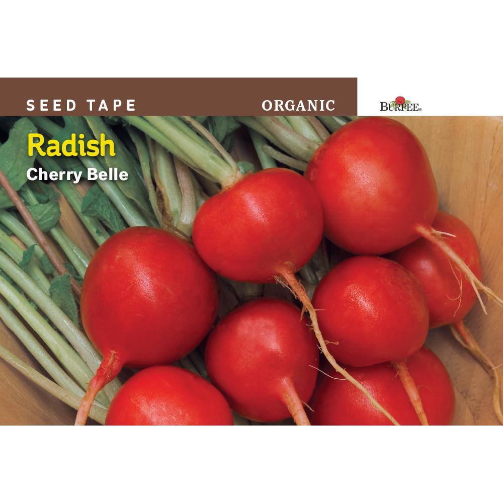 Burpee Seed Tape Organic Radish Cherry Belle Seed